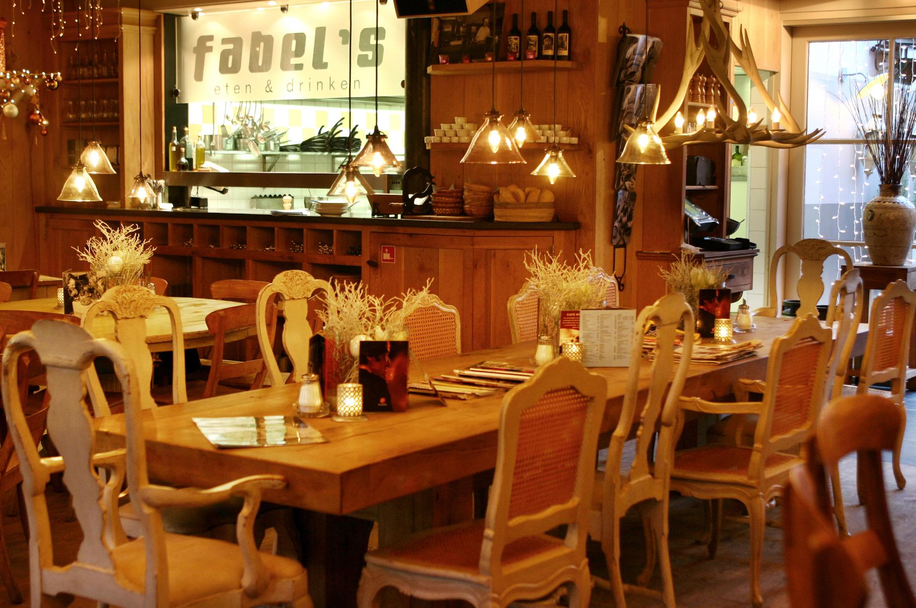Bestellen bij Fabel's eten & drinken header